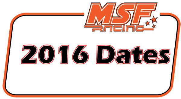 MSF Racing 2016 Final Calendar