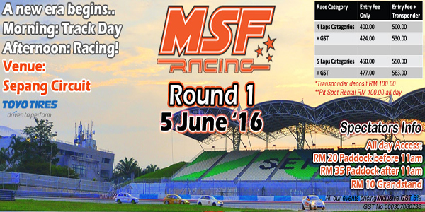 MSF RACING ROUND 1 : 5/6/2016 NEW ERA BEGINS