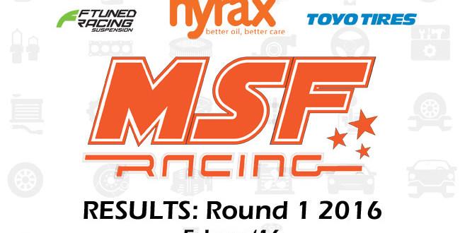 MSF Racing 2016 Rnd1 Results