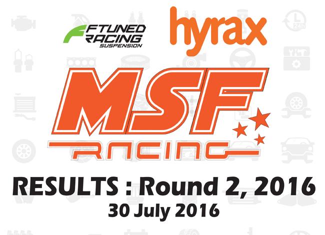 MSF Racing 2016 Rnd2 Results