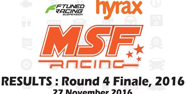 MSF Racing 2016 Rnd4 FINALE Results