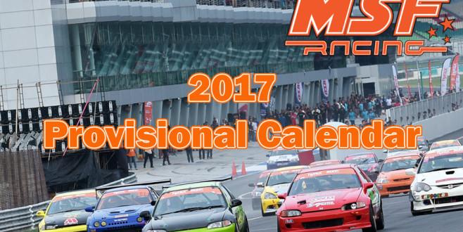 MSF Racing 2017 Provisional Calendar