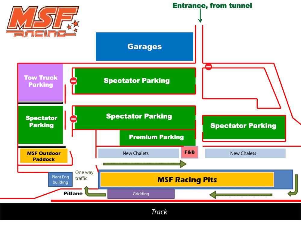 MSF Racing Paddock Layout & Traffic Flow