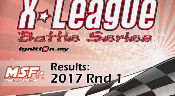 X League Battle Series Rd.1 2017 : KEPUTUSAN