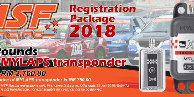 MSF Racing 2018 Transponder Package