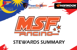 MSF Stewards Summary : 2018 Rnd 2