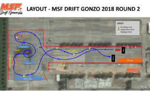 MSF Drift Gonzo – Layout for Round 1, 2018