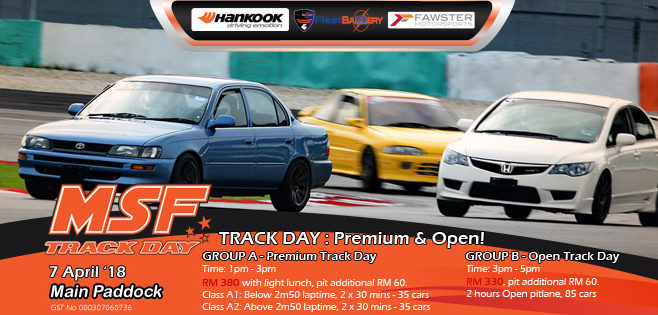 Introducing MSF Premium Track Day