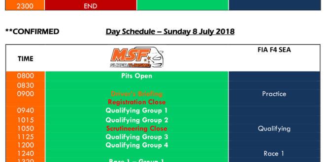 MSF 2018 Rnd 3 Schedule