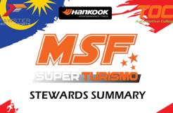 MSF Stewards Summary : 2018 Rnd 3
