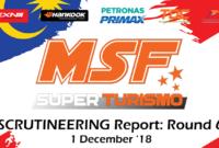 Scrutineering Report MSF SuperTurismo Finale 2018 (Round 6)