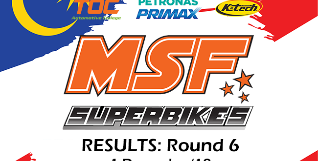 MSF Finale 2018 Superbike Results