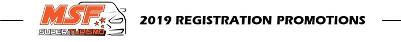 MSF SuperTurismo 2019 Registration Packages