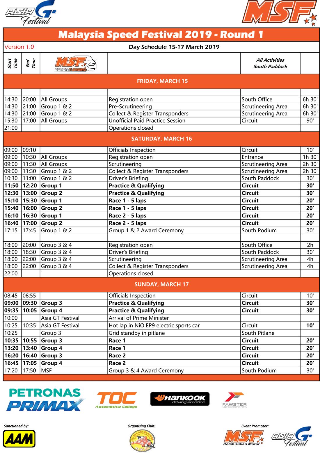 Event Info » MSF Racing Series