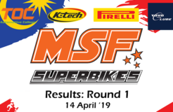 MSF Superbike 2019 Round 1 Results