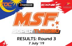 MSF Superturismo 2019 Round 3 Results