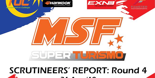 Scrutineering Report MSF SuperTurismo Merdeka Enduro Round 4- 2019
