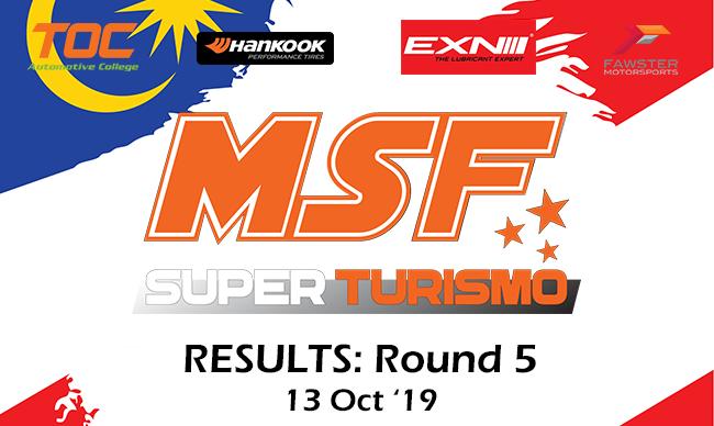MSF Super Turismo Round 5 Results – 2019