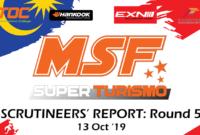 Scrutineering Report MSF SuperTurismo Merdeka Enduro Round 5- 2019