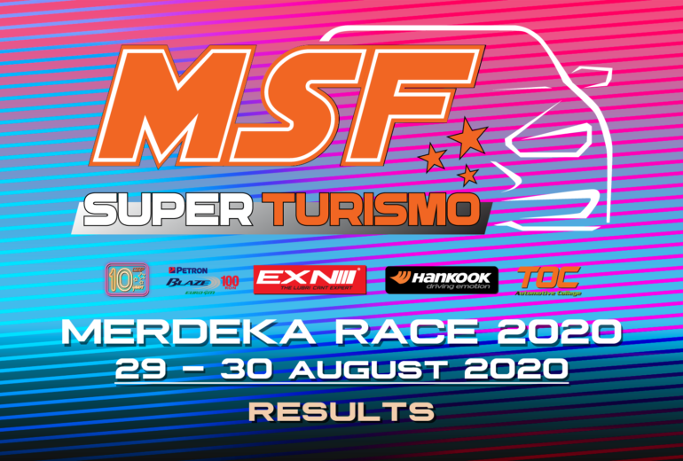 MSF SuperTurismo  Merdeka Race 2020 Results