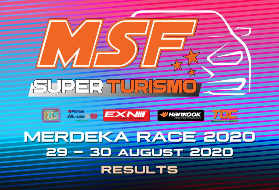 MSF SuperTurismo  Merdeka Race 2020 Results