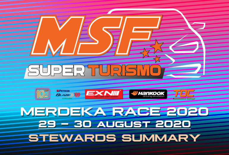 Steward Summary MSF Superturismo Merdeka Race 2020