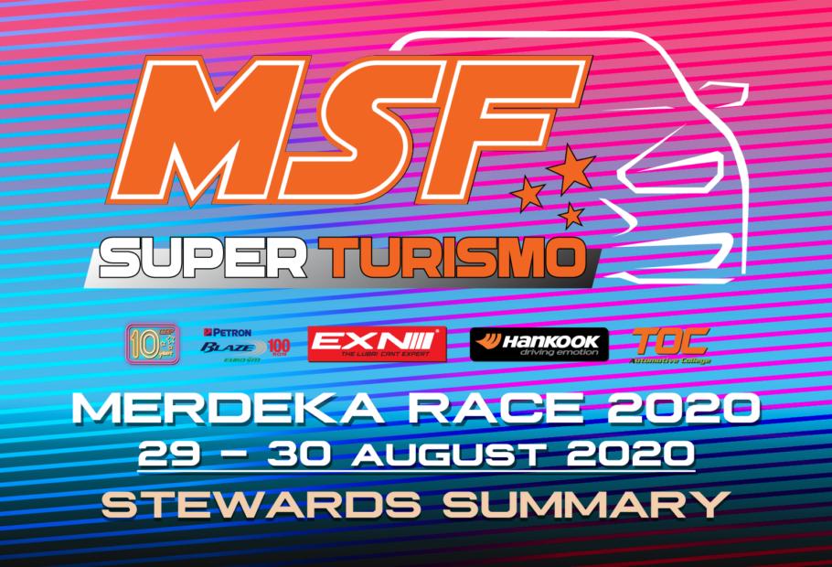 Steward Summary MSF Superturismo Merdeka Race 2020